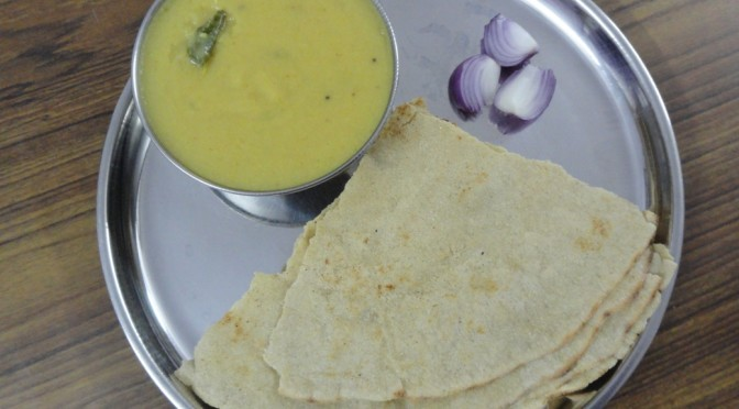 Chintakaya Menti with Jowar Roti