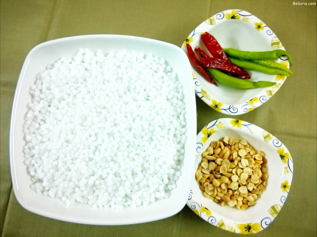 Sabudana Upma Ingredients