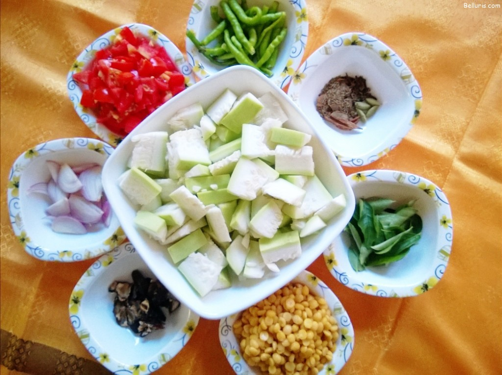 Kaddu ka dalcha ingredients