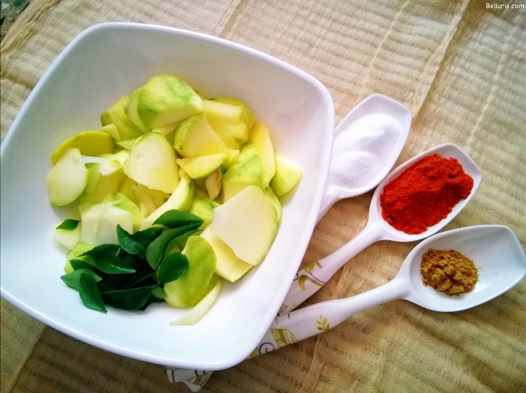 Mamidikaya Pachadi Ingredients