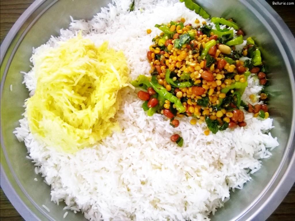 Mamidikaya Pulihora Ingredients