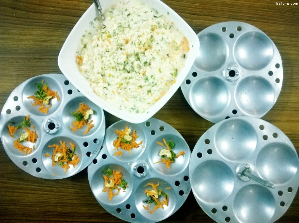 Rava Idli Making